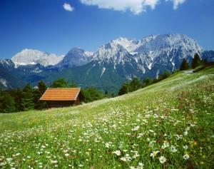 Karwendelgebirge bei Mittenwald, Bayern, Deutschland