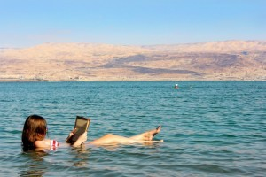 Lying in the Dead Sea