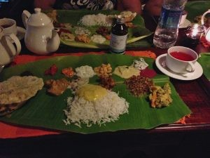 Delicious Kerala dinner