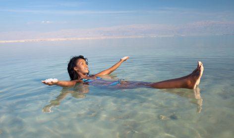 Dead Sea Floating Woman