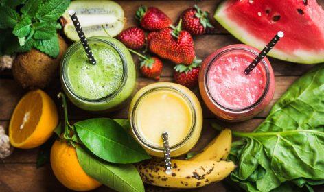 Fresh smoothie with seasonal fruits