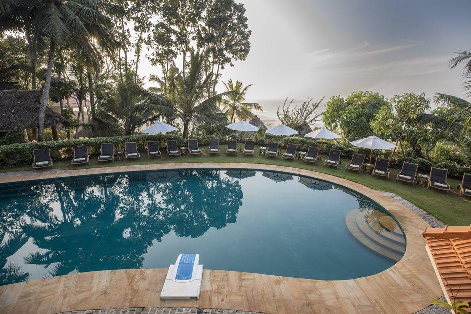 Pool at Somatheeram health resort india