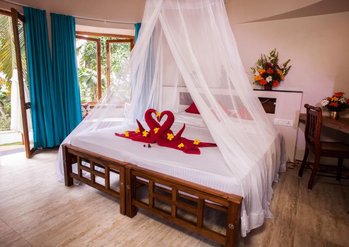 Sometheeram Redecorated Cottages Interior, Luxury bedroom