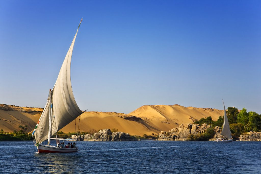 Egypt. The Nile at Aswan, one of the best spring break destinations