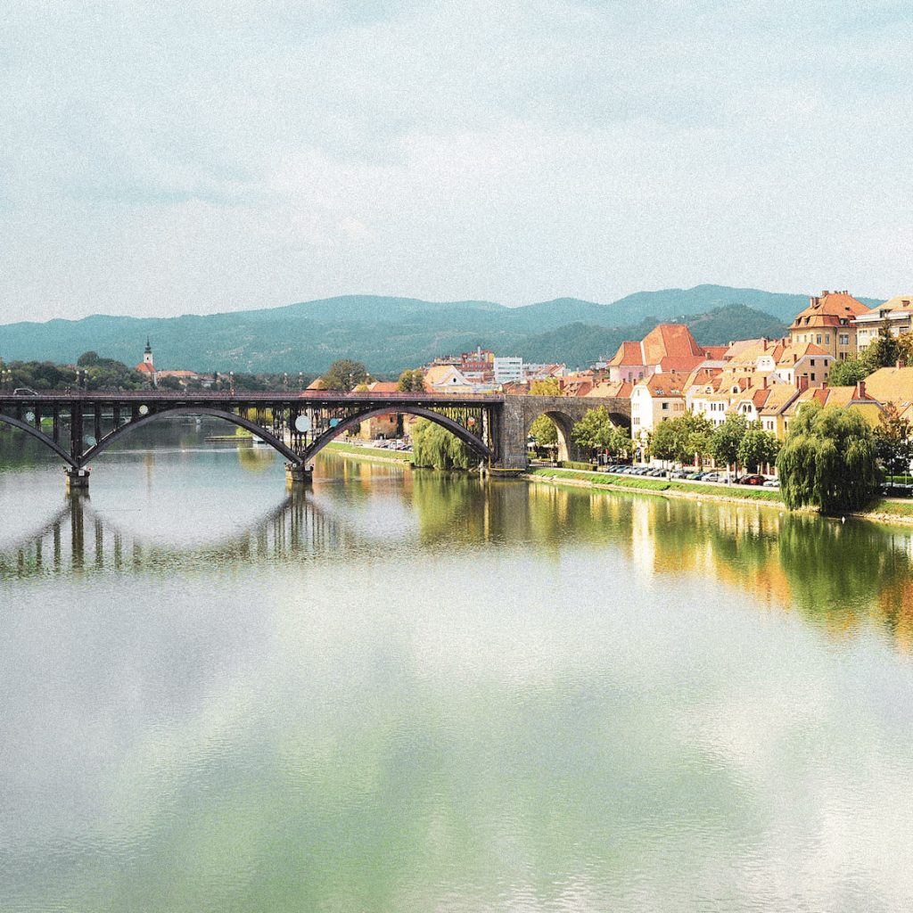Skyline view of Maribor city, Slovenia
