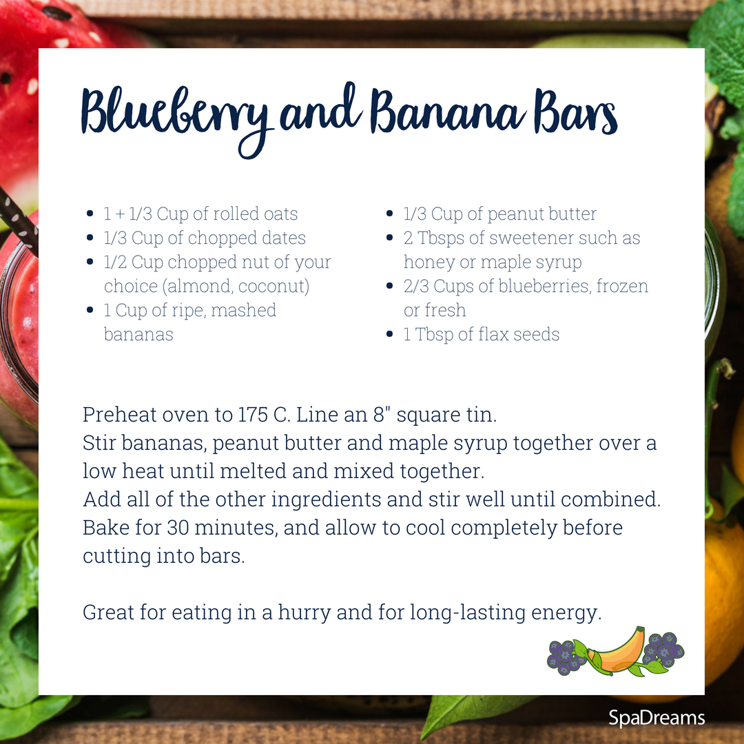Blueberry and Banana Bars