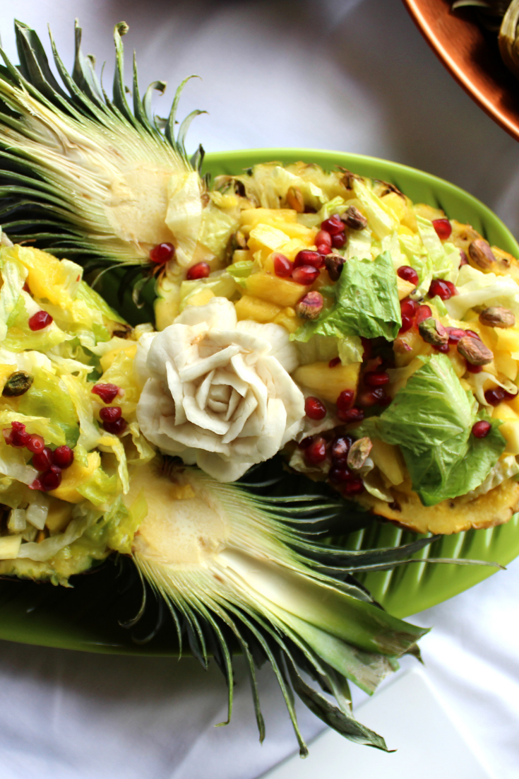 pineapple salad - warm ayurveda salad recipe
