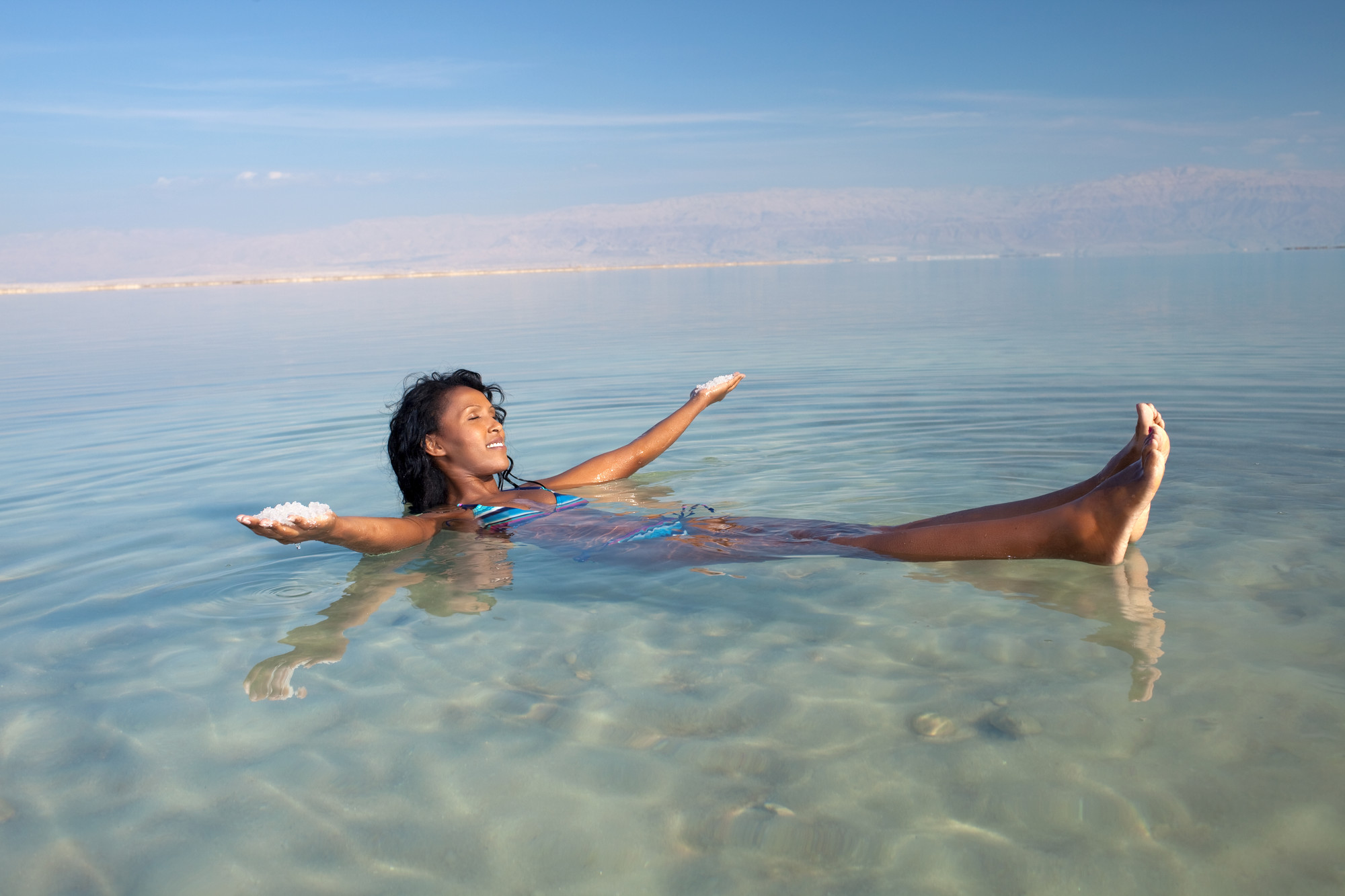 Dead Sea Floating Woman