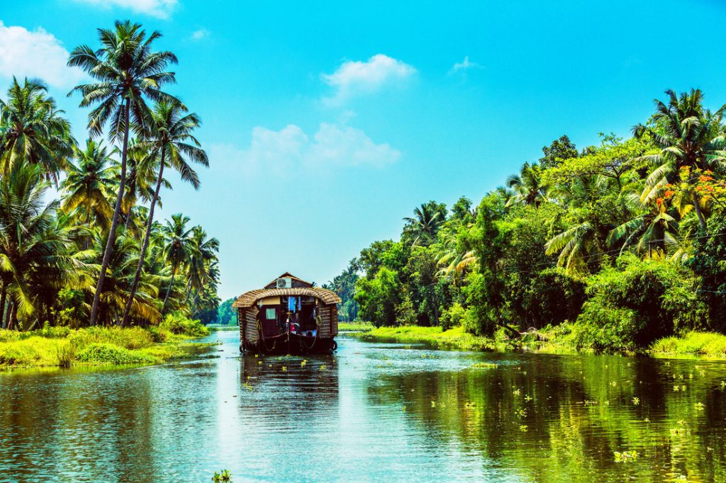Traditional Houseboat on Kerala Backwaters