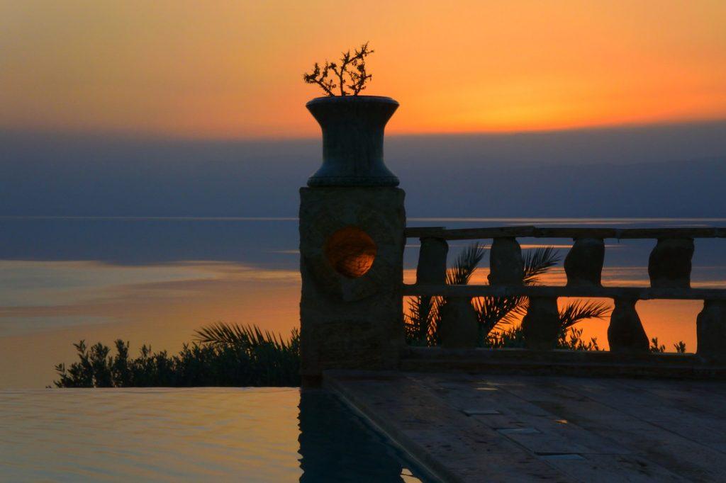 Sunset on the Dead Sea, Jordan