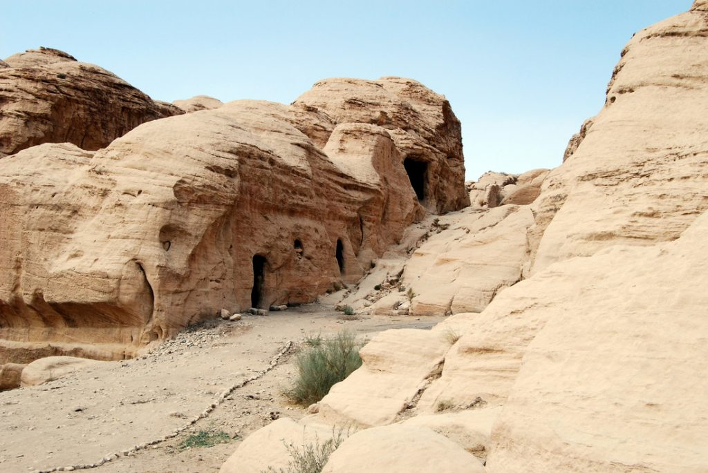 Landscapes in Petra. Jordan's most-visited tourist attraction.