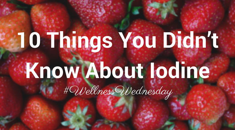 10 things you didn't know about Iodine header image - strawberries