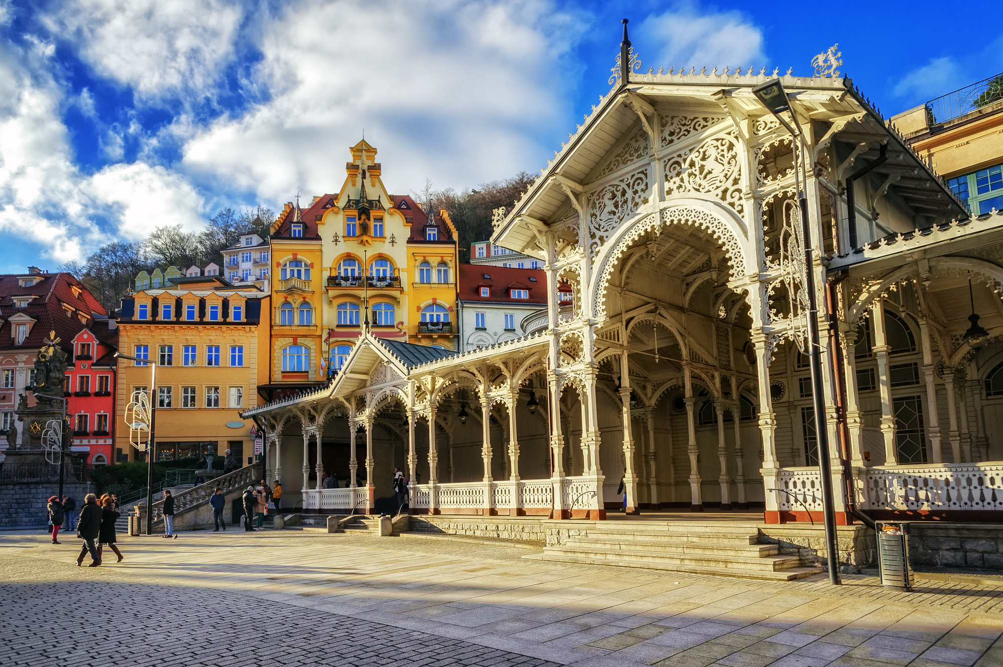 Carlsbad, the famous spa city in western Bohemia, very popular tourist destination in Czech Republic
