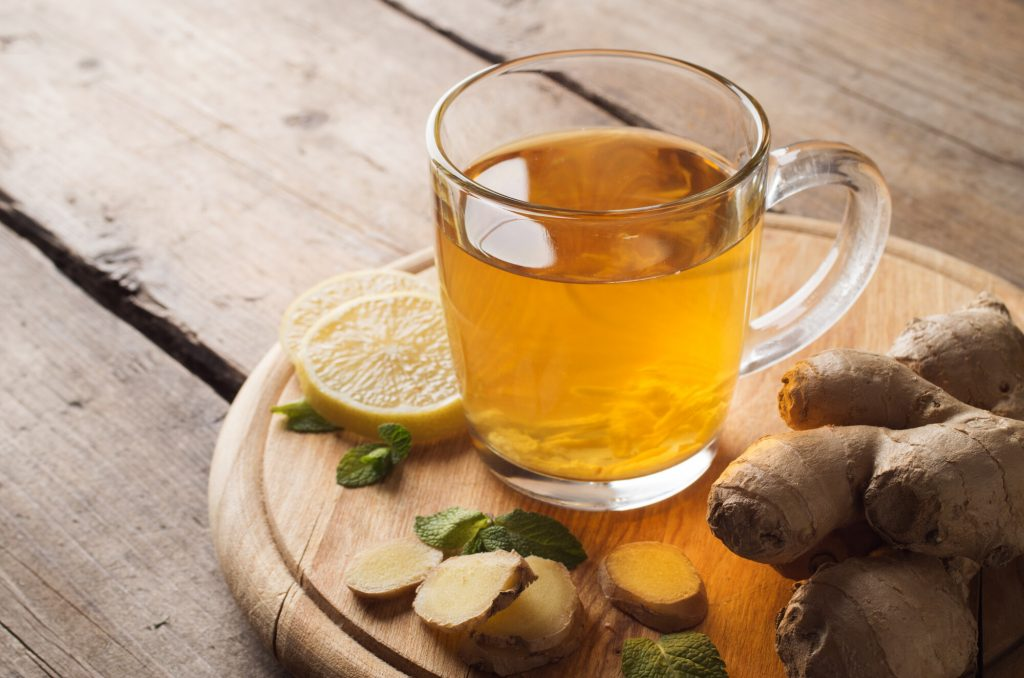 Ginger tea as an ayurvedic herbal treatment for migraines.